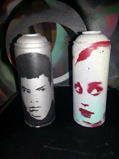Empire Records upcycled art spraycan by rainbowalternative on Etsy, $15.00