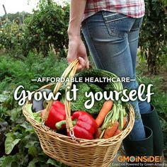 Food for thought! If each of us grew just a small portion of our own food, organically and without the use of GMO seeds, it would have an enormous impact on our health and our food system. Do you agree? www.gmoinside.org #gardening #organic #health #food #sustainability