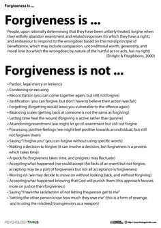 Forgiveness Is
