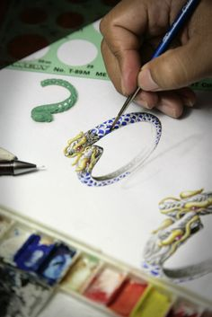 These intricate sketches represent what will one day be a gorgeous, unique Naga bracelet!