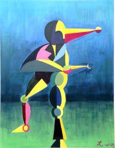 """""""Dancer"""" (130x100 cm) acrylic"""