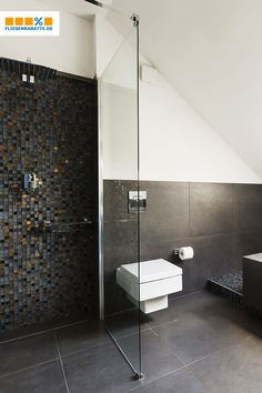 Mosaic tiles for that special touch- Mosaikfliesen für den besonderen Touch With can that be into a luxurious - Ceramic Tile Bathrooms, Bathroom Sinks, Modern Bathroom, Brick Patterns Patio, Shabby, Mosaic Tiles, Decoration, House Design, Interior