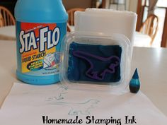 » How to Make Homemade Rubber Stamp Ink – Recipe Nuttin' But Preschool