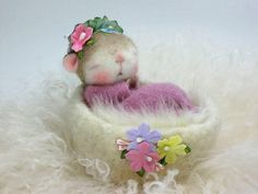 PDF CLASS Needle Felted Animal Dressed Mouse/Bunny Needle Felting Class to create BOTH the Bunny and Mouse. $45.00, via Etsy.