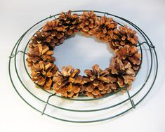 is the REAL way to do pine cone wreaths. My grandmother did it this way, and this is the best way to make them. - A TutorialThis is the REAL way to do pine cone wreaths. My grandmother did it this way, and this is the best way to make them. Pine Cone Art, Pine Cone Crafts, Wreath Crafts, Diy Wreath, Christmas Projects, Pine Cones, Holiday Crafts, Christmas Crafts, Christmas Decorations