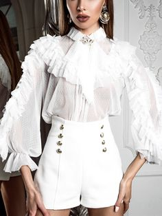 Elegant Blouses – Page 2 – Ininruby Stage Outfits, Kpop Outfits, Blouse Vintage, Elegant Outfit, Couture Fashion, Stylish Outfits, Lace Dress, Winter Fashion, Fashion Dresses