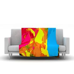 "Matthias Hennig ""Colored Plastic"" Fleece Throw Blanket"