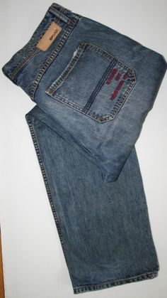 Vintage Rip Curl Jeans Denim  Fashion Style Designer Navy Blue Size  36 34 Relax