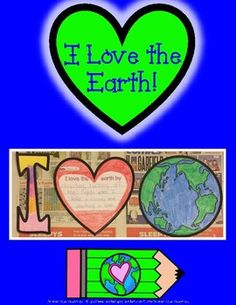 """Happy Earth Day!Have your student share their love for the earth with this Earth Day activity! They will complete a writing prompt that describes ways they show their love to the Earth. They will get to color and decorate the letter """"I"""" and the Earth, and glue them to a piece of newspaper to reuse it!It includes:DirectionsBig Letter IHeart Writing PromptEarth Coloring PageExamplesBanner"""