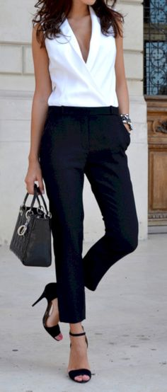 nice 51 Elegant Jumpsuit for Work Outfit https://attirepin.com/2017/11/18/51-elegant-jumpsuit-work-outfit/
