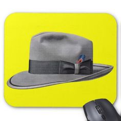1950s mens fedora hat print mouse pad - fathers day best dad diy gift idea cyo personalize father family