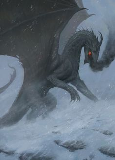 """dragon-inside: """"Lord of the Hissing Peaks by Antoine Dupont Issalys """""""