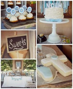 Vintage Christening + Baby Blessing Party via Kara' s Party Ideas KarasPartyIdeas.com Cakes, favors, cupcakes, games, and more! #vintageparty #babychristening #karaspartyideas (2)