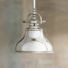 A nostalgic look, this brightly finished chrome mini pendant light is perfect over a kitchen island or dinette table.