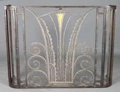 ART DECO METAL RADIATOR COVER