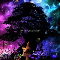 'fairy world ' Floor Pillow by johnnyssandart Fairy Land, Floor Pillows, World, Movies, Movie Posters, Films, Film Poster, Cinema, The World
