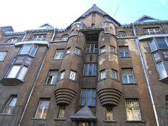 National Romanticism tenement building designed by Eizens Laube, Riga, Latvia