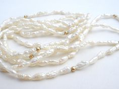 Pearl Necklace 14k Gold Freshwater Pearls by TheJewelryLadysStore