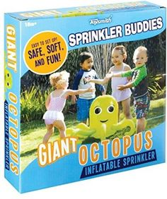 Sprinkler Buddies Giant Octopus Inflatable Lawn Water Toy