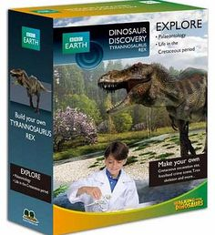 Walking with Dinosaurs Dinosaur Small Kit - T-Rex Experience life as a palaeontologist by burying the T-Rex bones in the rock mix and excavating them. Put the bones together to make a glow in the dark dinosaur skeleton and make a plaque by making a c http://www.comparestoreprices.co.uk/science-and-discovery-toys/walking-with-dinosaurs-dinosaur-small-kit--t-rex.asp