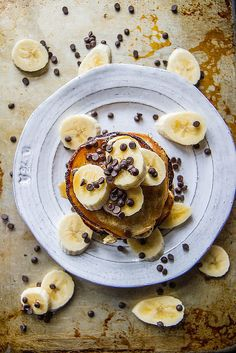 Not only are banana chocolate chip pancakes a classic recipe, but these are gluten-free for sensitive bellies, and vegan for special diets.
