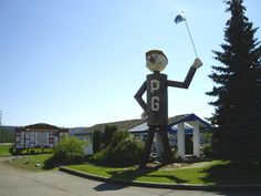 PG Man - Prince George BC Prince George Bc, Roadside Attractions, My Town, Canada Travel, See It, British Columbia, Places Ive Been, Burns, Road Trip