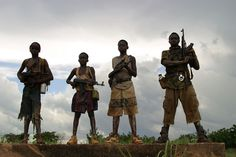 Look at this picture. Kids younger than 8 use this huge guns! when they actually need to learn things at school about violence but they are actually teaching them ho to be rebel/violence. Don't you feel bad about this poor kids? they said that they should fight to stay alive, to have food and also if you don't want to do it then they might kill someone in your family so that the kid do what they want them to do. Which is not fair.