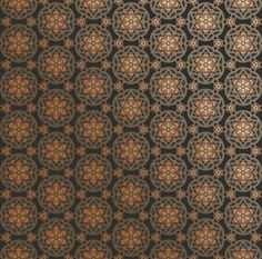 For the steam punk powder room. This is gorgeous! Bradbury Japanese Style Wallpaper | Itsuko in Ebony