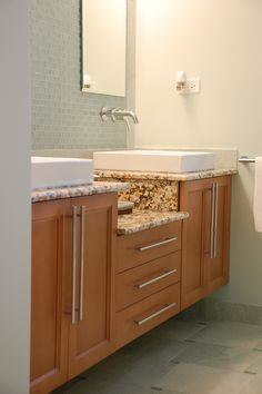 Maple, flat panel doors, Bath by Adagio cabinets 847-480-6300