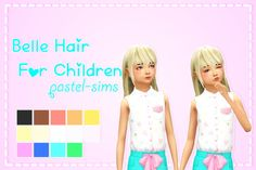 Belle Hair at Pastel Sims via Sims 4 Updates