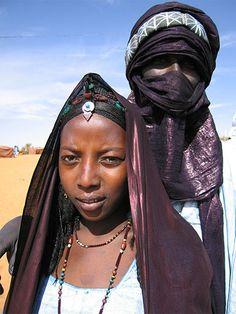 Africa |  Portrait of a Tuareg couple.  Mali | © Véronique Corsat
