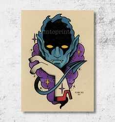 Nightcrawler Print (5x7) by Brian Hemming