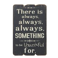 NIKKY HOME There Is Always Always Always Something To Be Thankful for Wooden Wall Decorative Sign 7.87 x 0.63 x 11.87 Inches