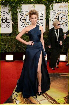 Celeb Diary: Amber Heard @ 2014 Golden Globe Awards