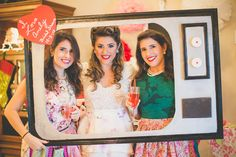 50's Housewife Retro Bridal Shower photobooth  Photo cred: @hcarmouze