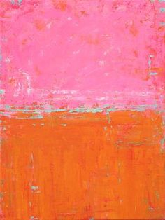 """Daily Paintworks - """"Abstract in Pink and Orange V"""" - Original Fine Art for Sale - © Sue McLean"""