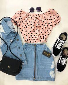 Pin on 《Ropa Femenina》 Swag Outfits, Summer Fashion Outfits, Girly Outfits, Mode Outfits, Cute Fashion, Outfits For Teens, Pretty Outfits, Cute Comfy Outfits, Cute Summer Outfits