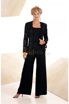 2013 BlackNavy blue/brown/Purple Chiffon beaded lace Casual Mother Of the Bride Pant Suits With Long Sleeve Jacket Plus Size MD1391701