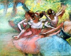 off Hand made oil painting reproduction of Four ballerinas on the stage, one of the most famous paintings by Edgar Degas. It is quite common to see Edgar Degas being portrayed as fundamentally linked to ballerinas in his arti. Edgar Degas, Degas Ballerina, Ballerine Degas, Painting Prints, Fine Art Prints, Degas Paintings, French Paintings, Paintings Famous, Famous Art