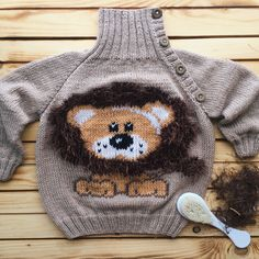 Свитер с вышивкой Sweater cross stitch Свитер со львом Leon cross stitch