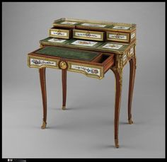 An 18th century small writing desk. Made for Madame du Barry's apartments at Versailles