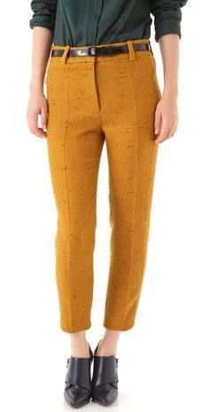 cropped notch trousers.  3.1 phillip lim