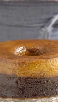 Já imaginou que delícia um bolo e um pudim juntos?