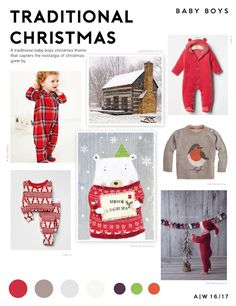 Traditional Christmas Trend - Baby Boys - Autumn/Winter 2016/17