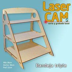 Display triple bandeja laser cut shelves shelf candy bar