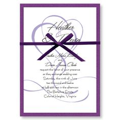 silver double hearts wedding invitation kit print your own from, Wedding invitations