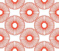 Flower - Flame fabric by elephantandrose on Spoonflower - custom fabric