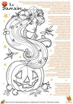 La samain d'halloween, image à colorier
