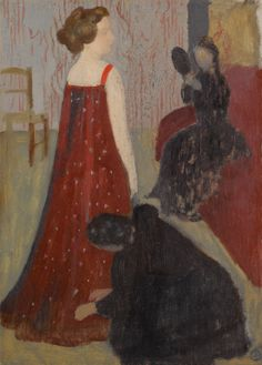Maurice Denis for sale at auction Maurice Denis 1870 - 1943 L'ESSAYAGE stamped with the artist's monogram (lower right) oil on paper laid down on board 58.5 by 43cm., 23 by 16 7/8 in. Painted circa 1898.