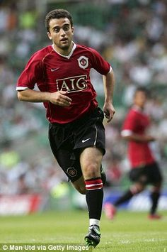 Giuseppe Rossi playing for Manchester United in July 2006 Manchester United Images, Manchester United Football, Premier League Champions, Stars Then And Now, Old Trafford, Europa League, Fa Cup, Man United, Sport Man